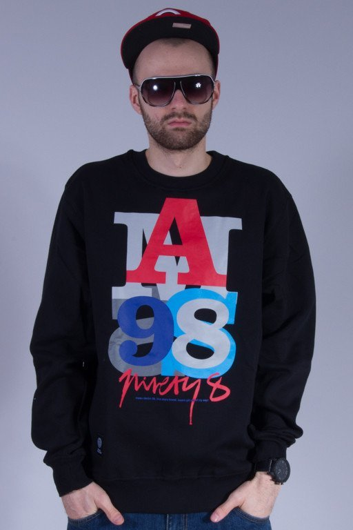 MASS BLUZA BEZ KAPTURA LETTER BLACK