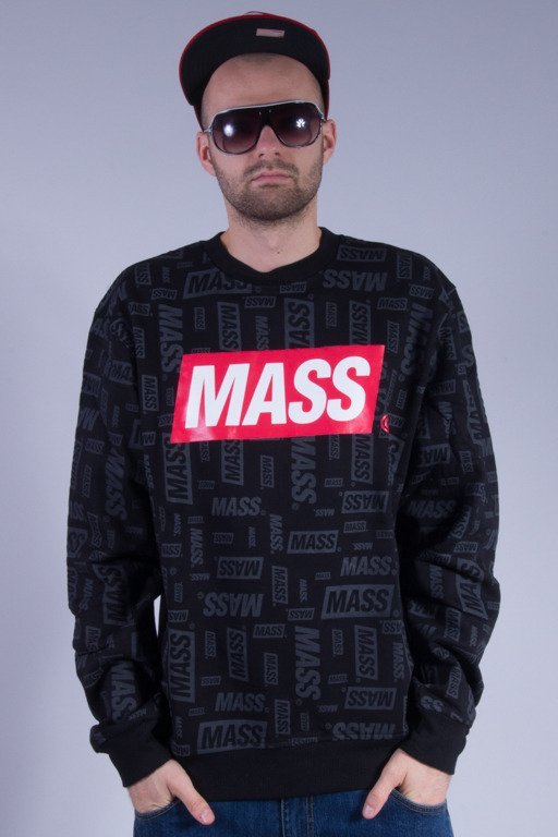 MASS BLUZA BEZ KAPTURA LOGOS BLACK