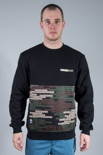 MASS CREWNECK PATH CAMO BLACK