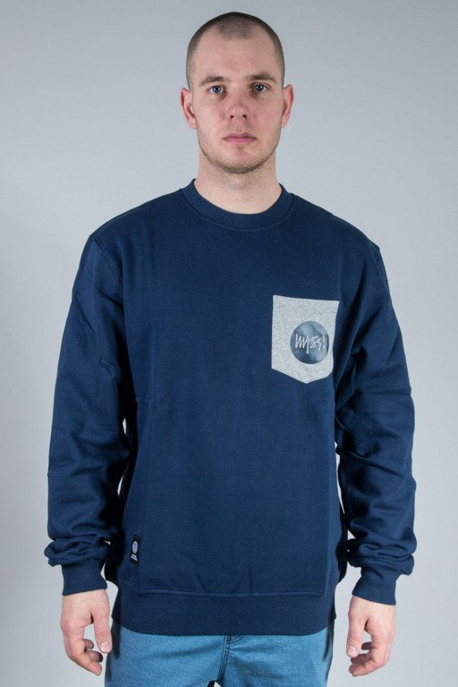 MASS CREWNECK POCKET SIGNATURE NAVY