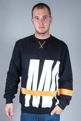 MASS CREWNECK SPLIT BLACK