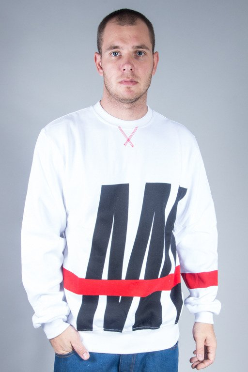 MASS CREWNECK SPLIT WHITE