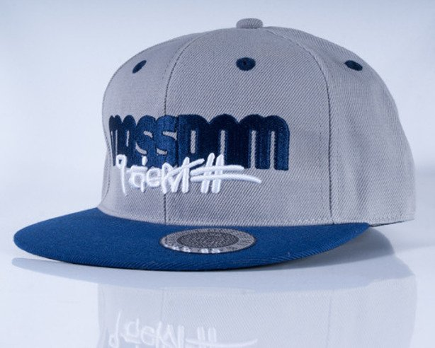 MASS CZAPKA FULLCAP ICON MELANGE-NAVY BLUE
