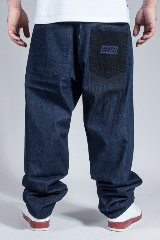 MASS JEANS POCKET COVER BAGGY FIT DARK