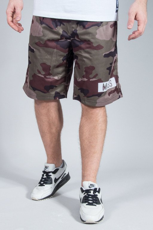 MASS MESH SHORTS BATTLE GREEN CAMO