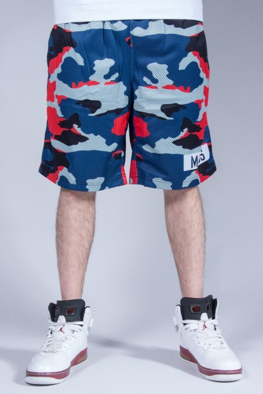 MASS MESH SHORTS BATTLE RED CAMO