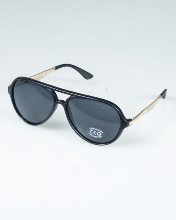 MASS OKULARY GEORG MATTE BLACK-GOLD