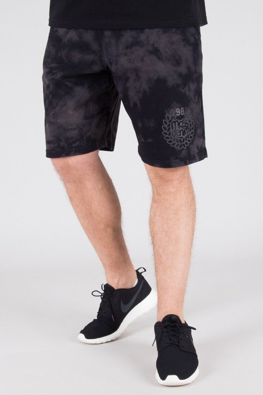 MASS SWEATSHORTS BASE TIEDYE BLACK