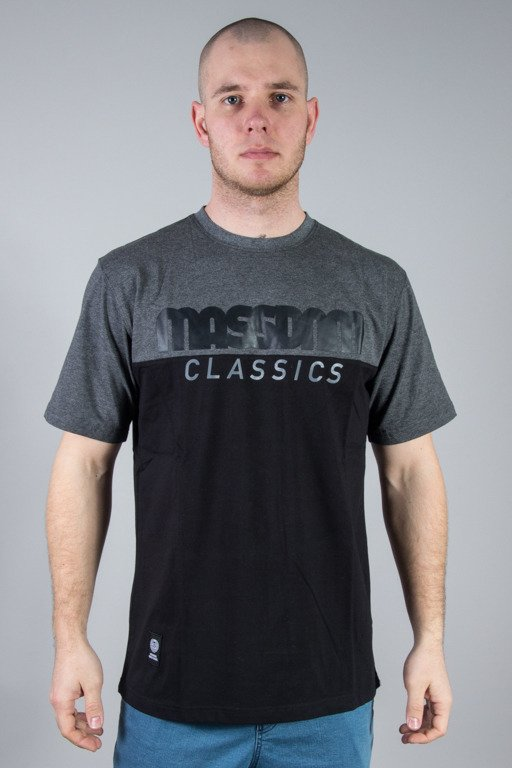MASS T-SHIRT CLASSIC CUT GREY-BLACK