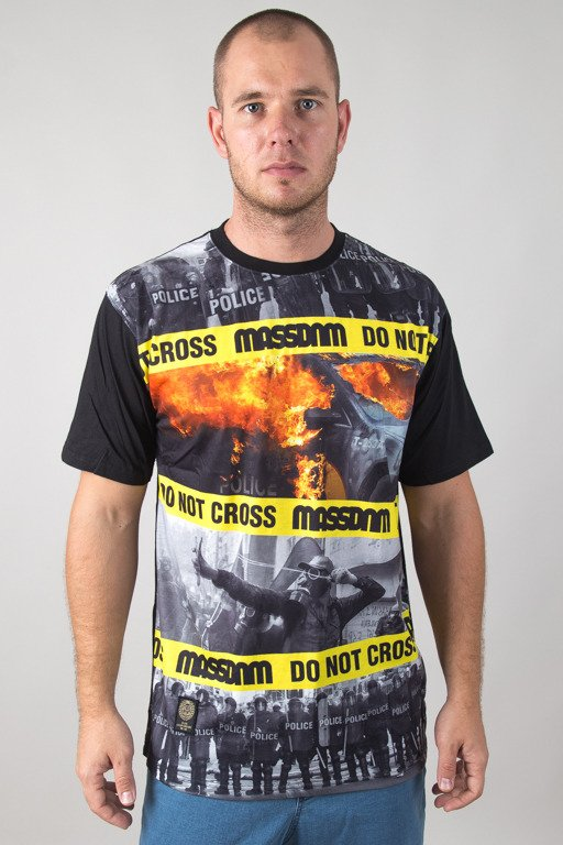 MASS T-SHIRT DO NOT CROSS BLACK