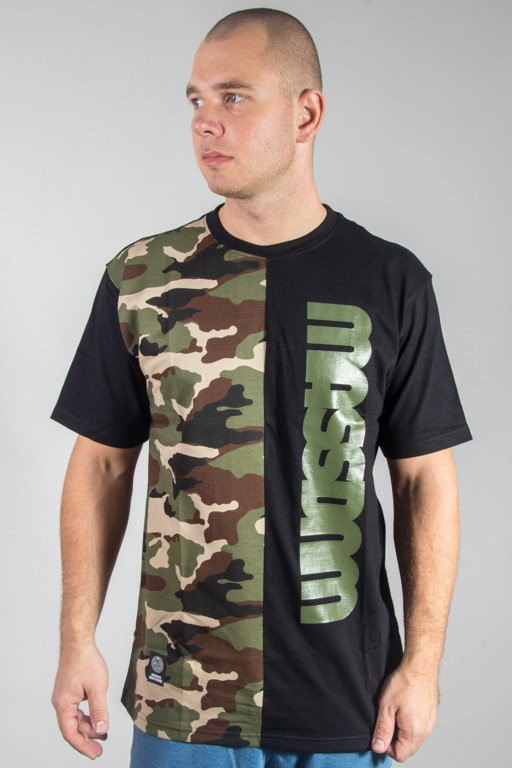 MASS T-SHIRT HALF CAMO BLACK