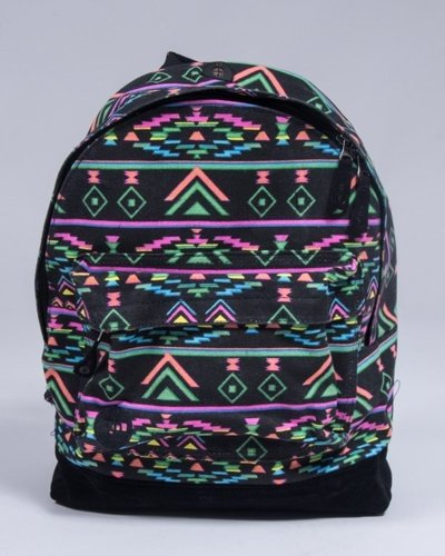 MI PAC BACKPACK AZTEC NEON BLACK