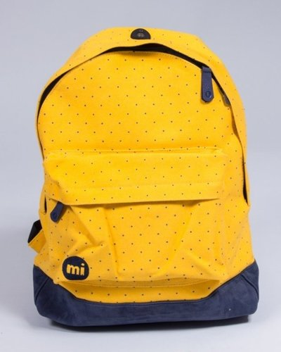 MI PAC BACKPACK CANVAS DOT YELLOW-NAVY
