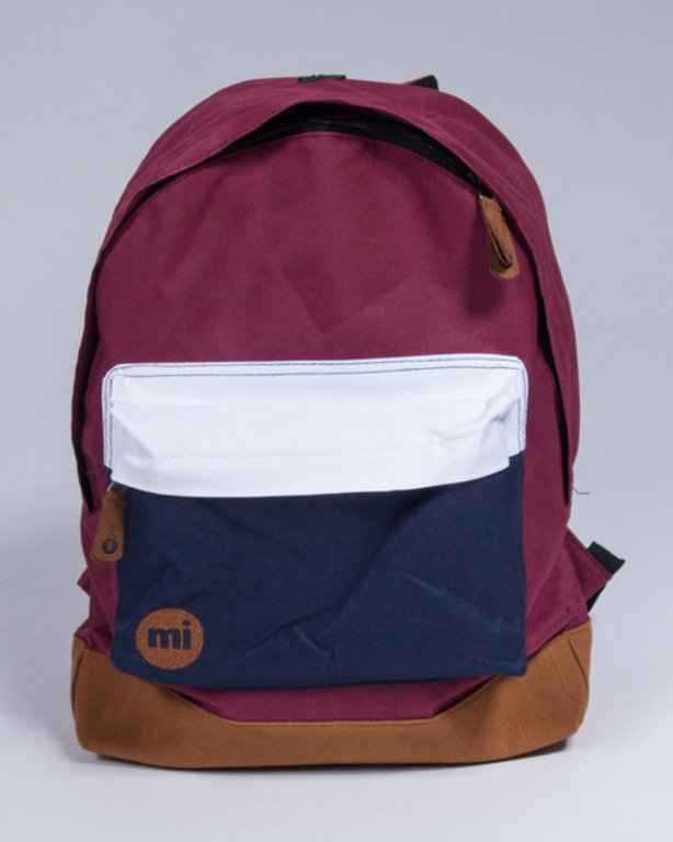 MI PAC BACKPACK TONALBURGUNDY-WHITE-NAVY