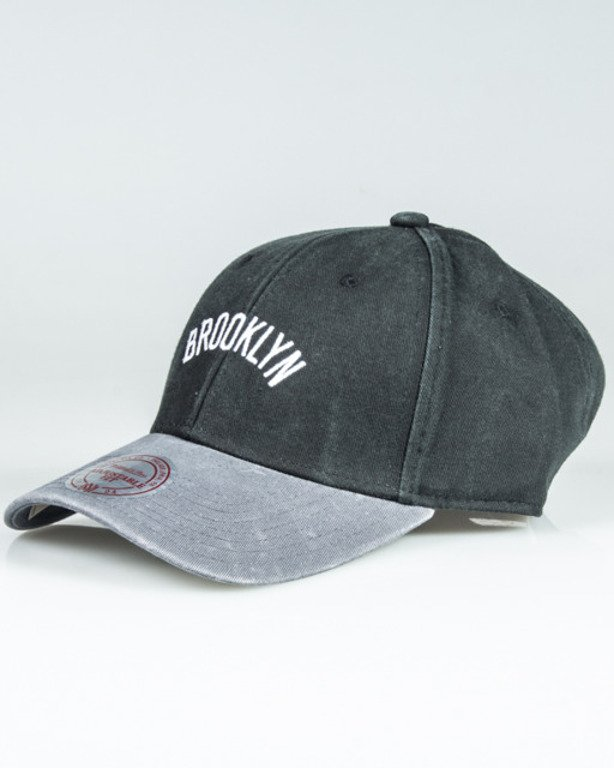 MITCHELL&NESS CAP 2 TONE WORDMARK SB INTL075 BRONET  BLACK-GREY