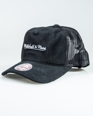 MITCHELL&NESS CUP LONG HAIR SUEDE TRUCKER BLACK