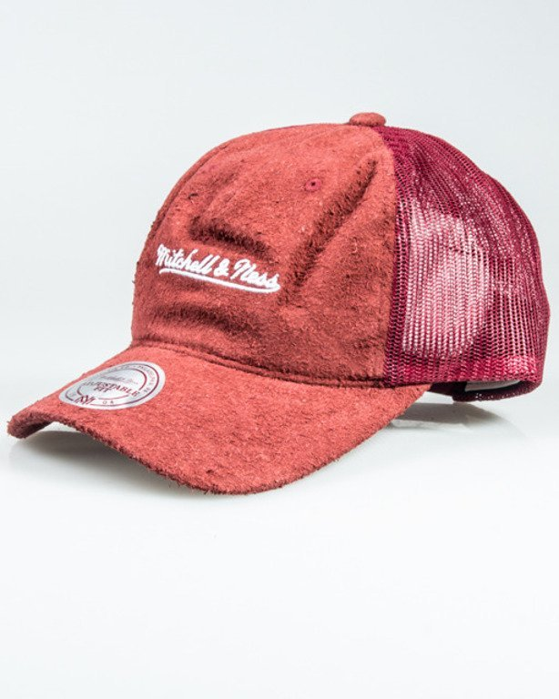 MITCHELL&NESS CUP LONG HAIR SUEDE TRUCKER BRICK