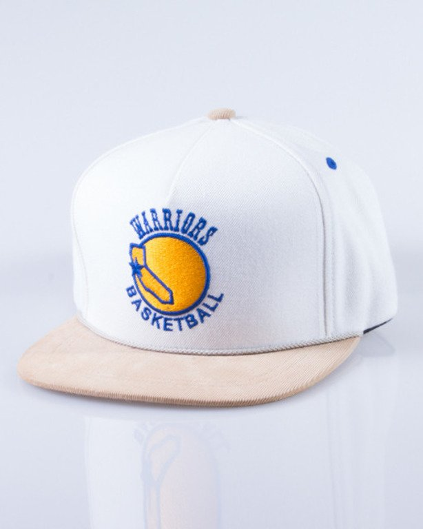 MITCHELL & NESS CZAPKA SNAPBACK NK32Z CREAM CORD GOLDEN STATE WARRIORS