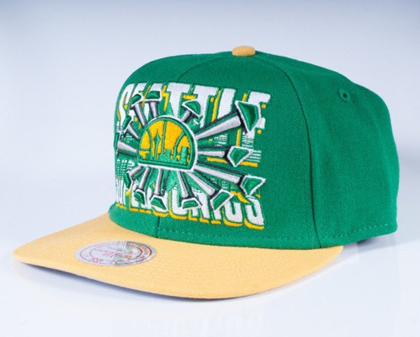 MITCHELL & NESS CZAPKA SNAPBACK NZC82 SEATTLE SUPERSONICS