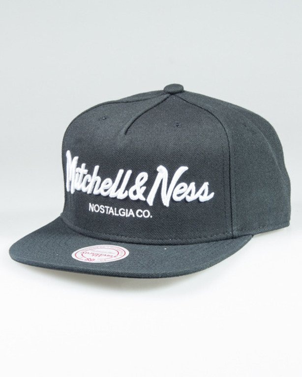 MITCHELL & NESS SNAPBACK EU336 PINSCRIPT BLACK-WHITE