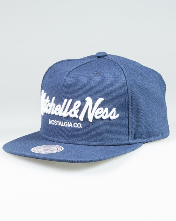 MITCHELL & NESS SNAPBACK EU336 PINSCRIPT NAVY-WHITE