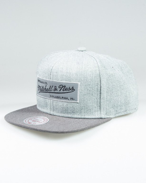 MITCHELL & NESS SNAPBACK INTL094 HEATHER REFLECTIVE GREY