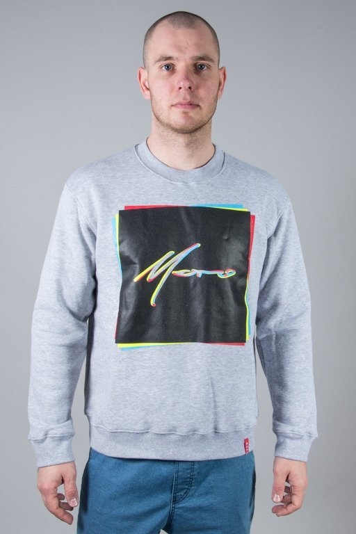 MORO CREWNECK RECTANGLES GREY