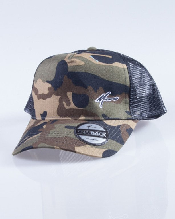 MORO CZAPKA TRUCKER PARIS GREEN CAMO-BLACK