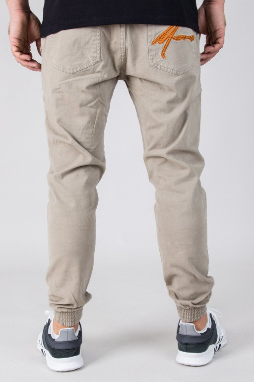 MORO PANTS CHINO JOGGER GYM PARIS18 BEIGE