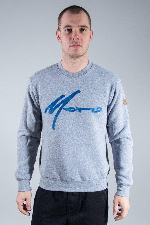 MORO SPORT CREWNECK PARIS GREY-BLUE