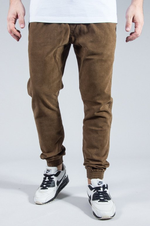 MORO SPORT PANTS CHINO JOGGER CAMO POCKET BROWN