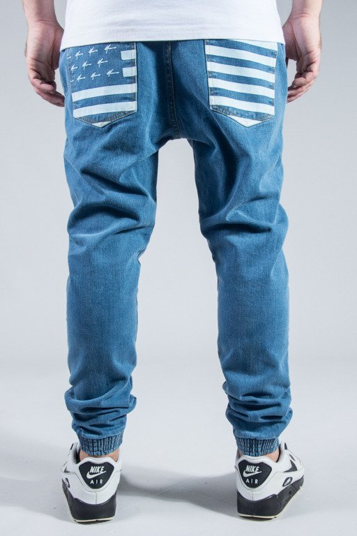 MORO SPORT PANTS JEANS JOGGER FLAG LIGHT