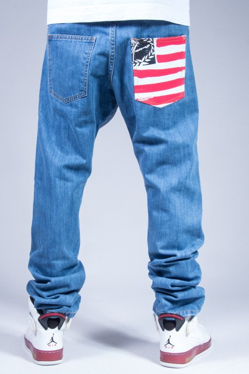 MORO SPORT PANTS JEANS SLIM FLAG LIGHT