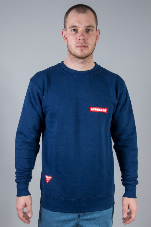 NEW BAD LINE CREWNECK BOX NAVY