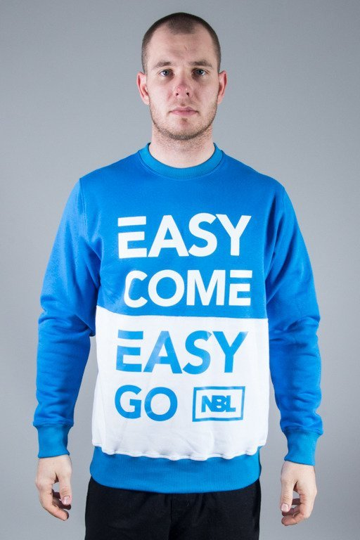 NEW BAD LINE CREWNECK EASY COME BLUE-WHITE