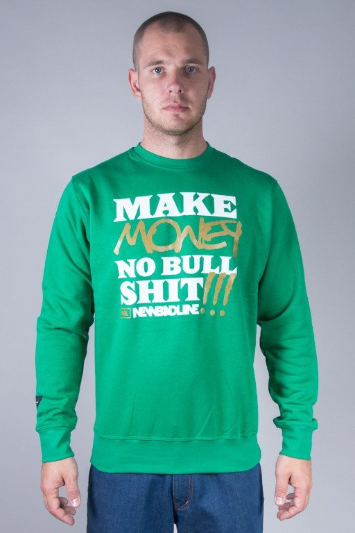 NEW BAD LINE CREWNECK MAKE MONEY GREEN