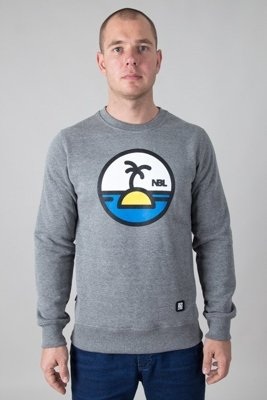 NEW BAD LINE CREWNECK PALM MELANGE