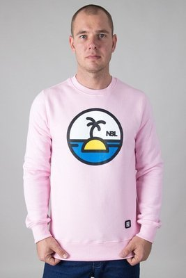 NEW BAD LINE CREWNECK PALM PINK