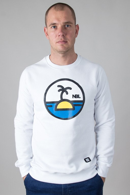 NEW BAD LINE CREWNECK PALM WHITE