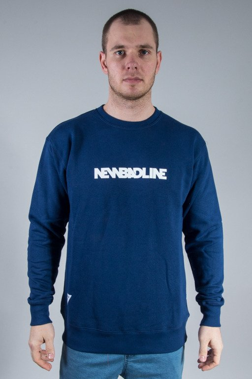 NEW BAD LINE CREWNECK SMALL CLASSIC NAVY