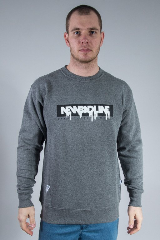 NEW BAD LINE CREWNECK SPRAY GREY