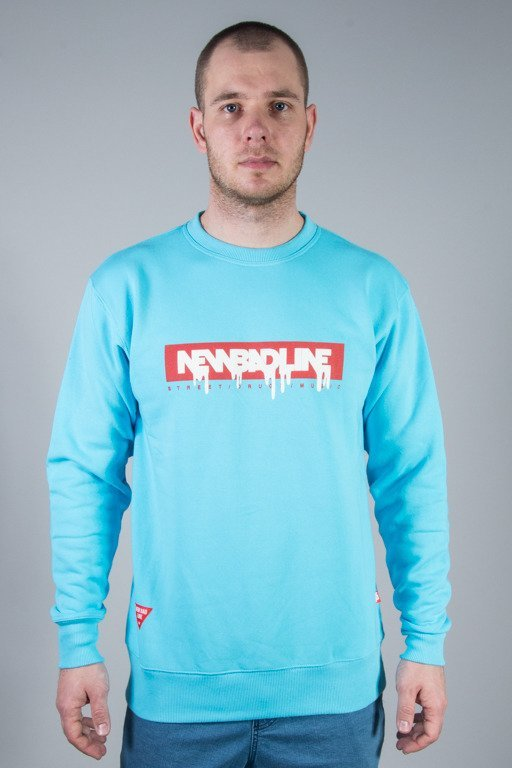 NEW BAD LINE CREWNECK SPRAY LIGHT BLUE