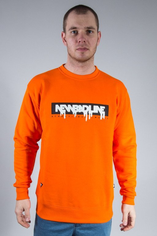 NEW BAD LINE CREWNECK SPRAY ORANGE