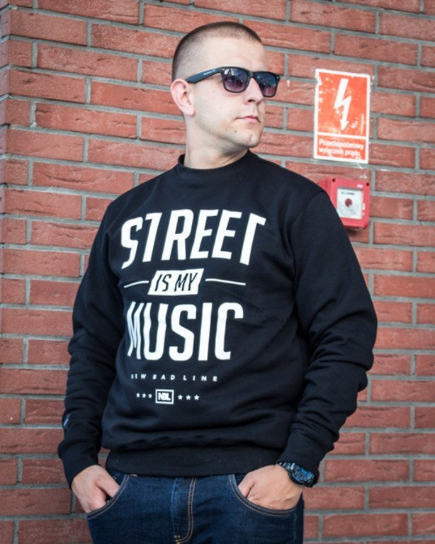 NEW BAD LINE CREWNECK STREET BLACK