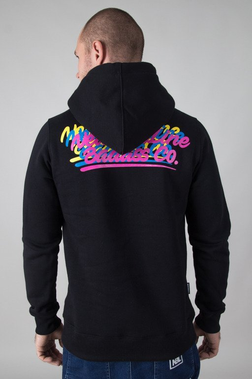 NEW BAD LINE HOODIE COLORLOGOS BLACK