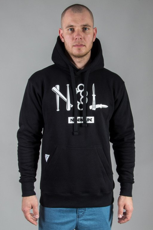 NEW BAD LINE HOODIE CRIME BLACK
