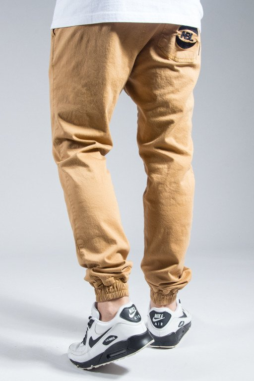 NEW BAD LINE PANTS CHINO JOGGER BASKET CAMEL