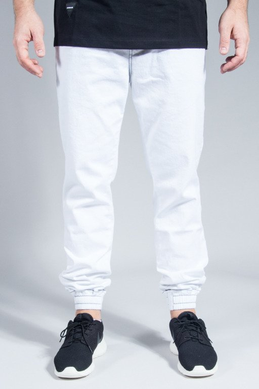 NEW BAD LINE PANTS CHINO JOGGER BASKET WHITE