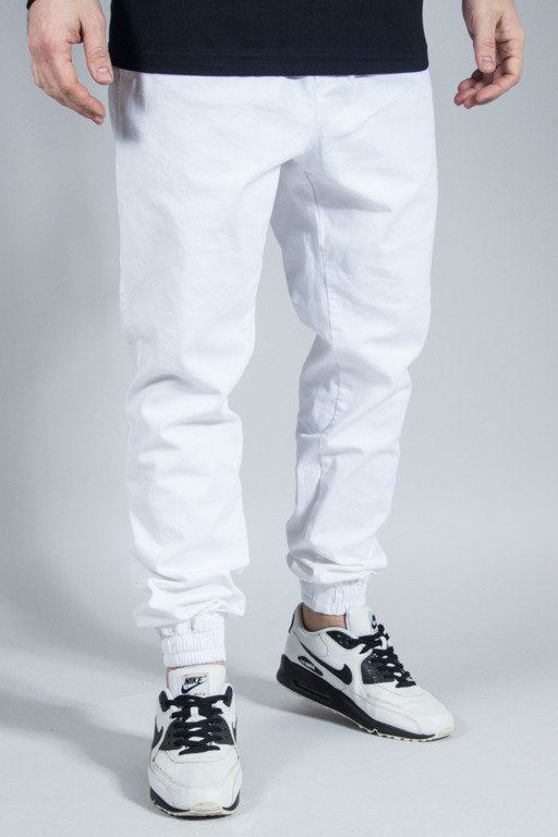 NEW BAD LINE PANTS CHINO JOGGER ICON WHITE