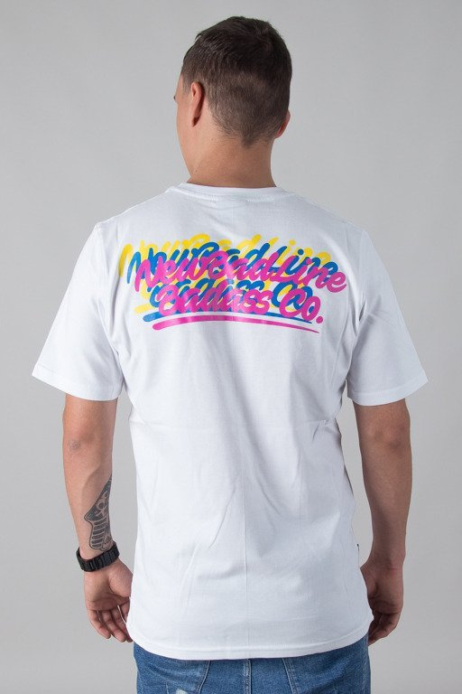 NEW BAD LINE T-SHIRT COLORLOGOS WHITE
